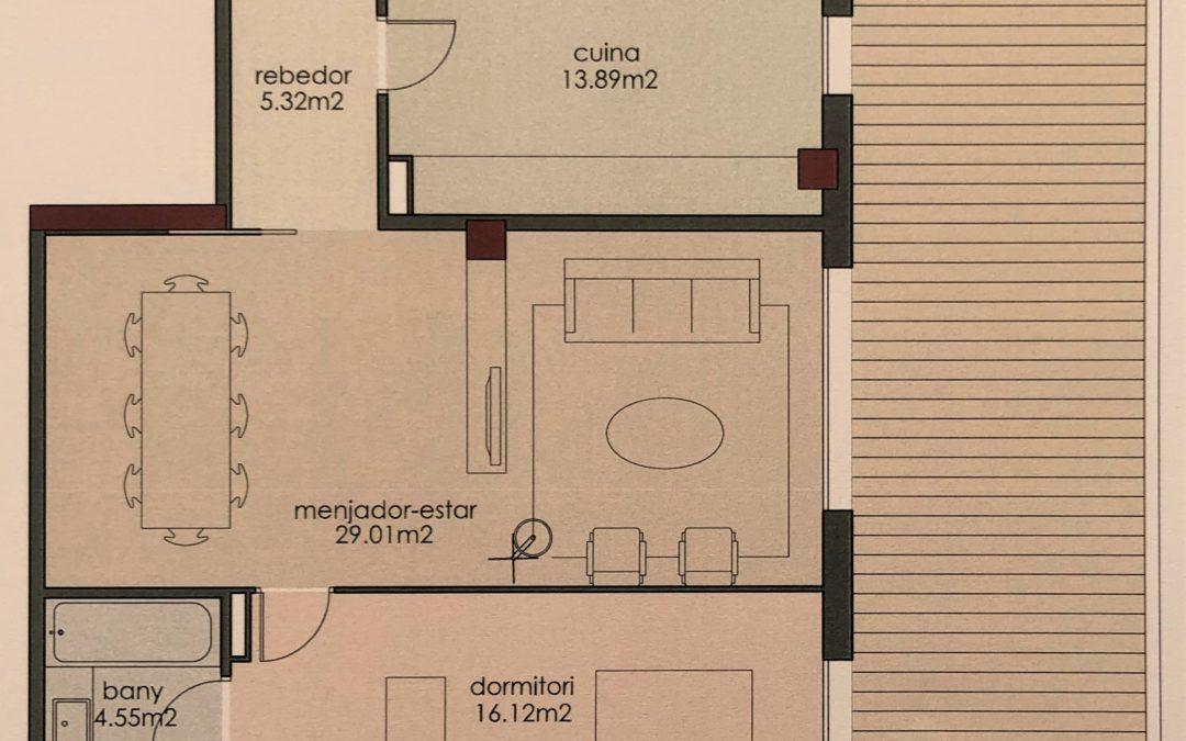 Pis molt nou amb terrassa i pàrquing a la Devesa – Girona Capital –